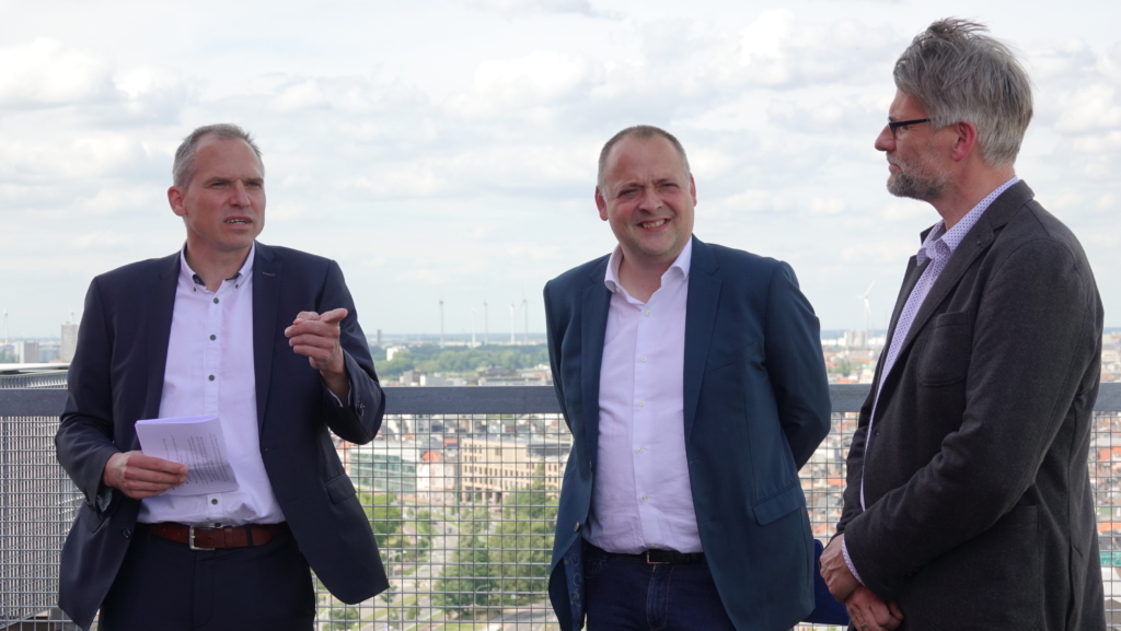 minister Diependaele, voorziter Duchateau en directeur Gehre
