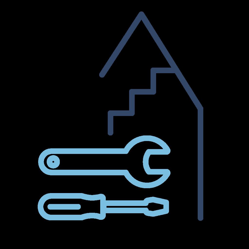 icoon technisch onderhoud gemeenschappelijke delen